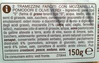 Tramezzini pomodoro, mozzarella e olive - Ingredients