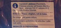 platessa - Ingrediënten - it