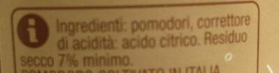 Passata grossa di pomodoro - Ingredients - it