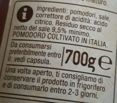 Passata pomodoro - Ingrédients - fr