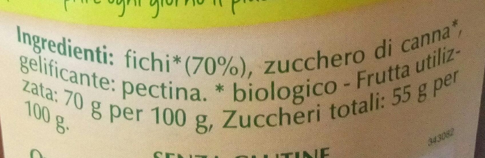 Preparato di fichi biologico - Ingredients - it