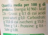 Preparato di fichi biologico - Nutrition facts - it