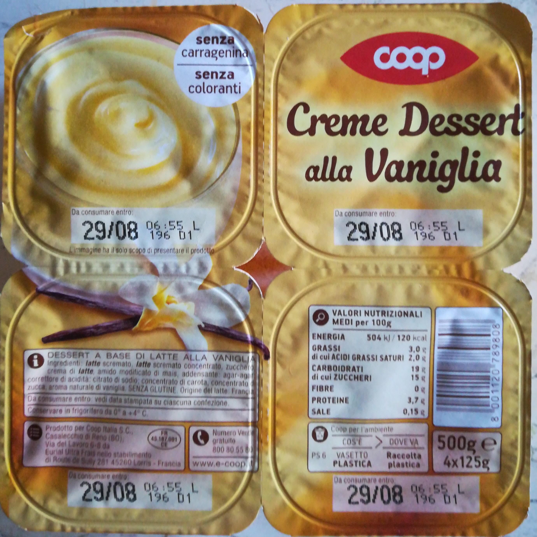 Creme Dessert alla Vaniglia - Product - it