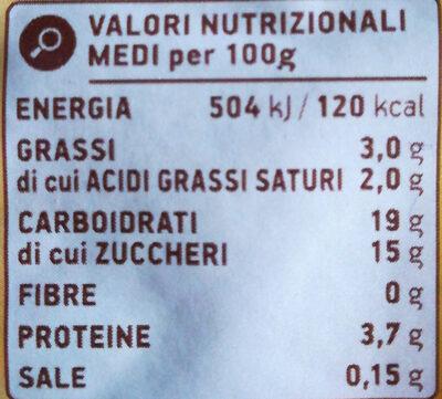 Creme Dessert alla Vaniglia - Nutrition facts - it