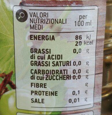 Aceto di Vino Bianco - Voedingswaarden - fr