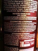 Olio Extra Vergine di Oliva 100% Italiano - Ingrediënten