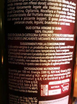 Olio Extra Vergine di Oliva 100% Italiano - Ingrédients - fr