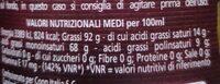 Olio Extra Vergine di Oliva 100% Italiano - Informations nutritionnelles - fr
