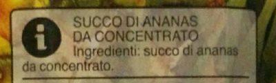 100% Ananas - Ingredients - it