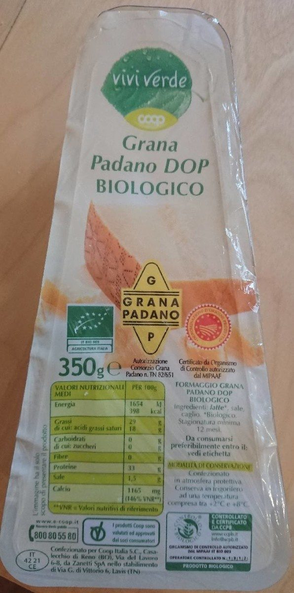 Grana Padano DOP biologico - Product - it
