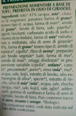 Cotolette vegetali - Ingrédients - it