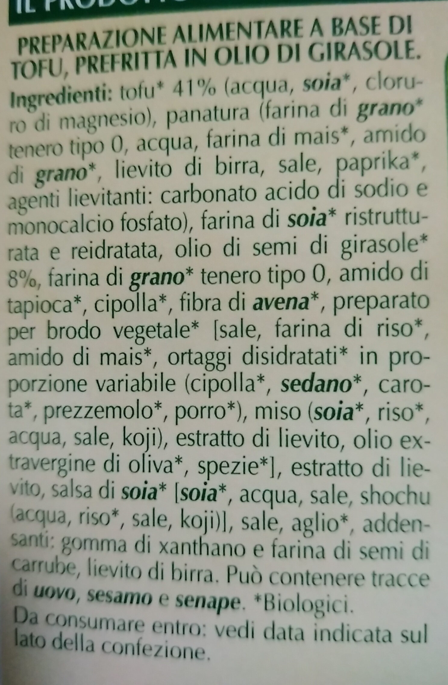 Cotolette vegetali - Ingredients - it
