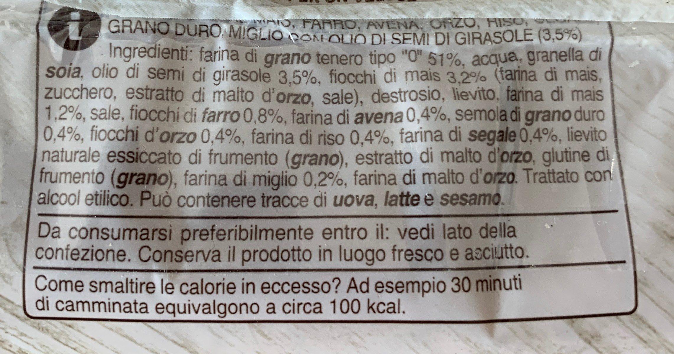 Pane 8 cereali - Ingredients