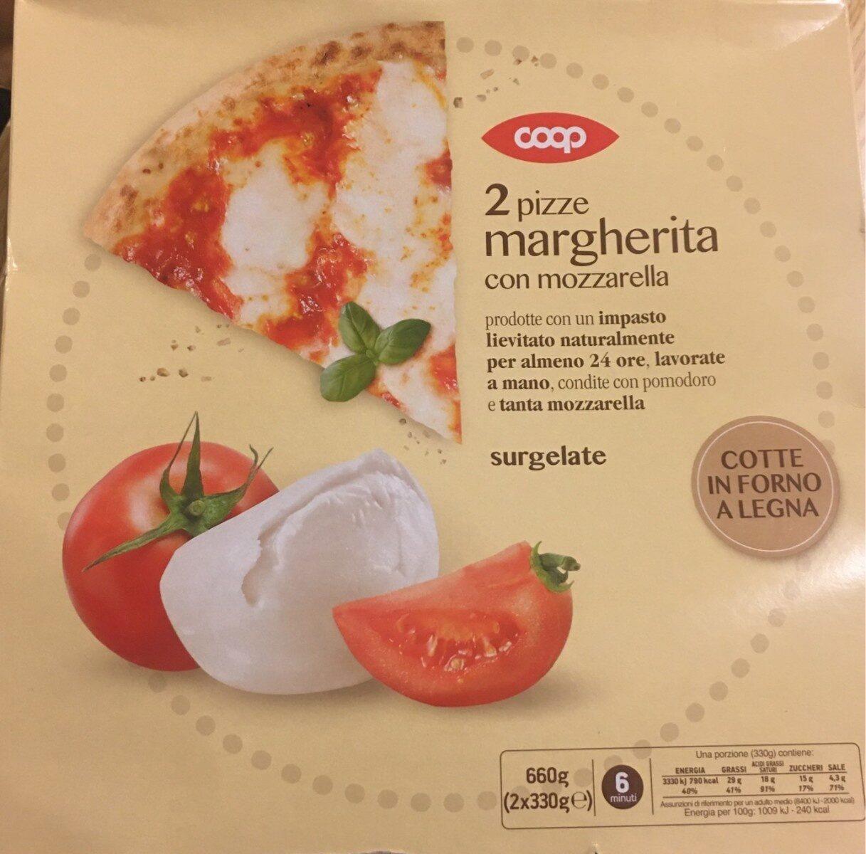 Pizze margherita con mozzarella - Product