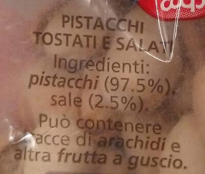 Pistacchi tostati e salati - Ingredients - it