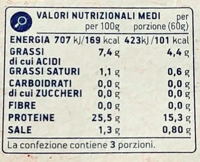 Tonne a pinne gialle in olio di oliva - Informazioni nutrizionali - it