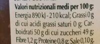 Confettura extra di fichi - Informations nutritionnelles - en