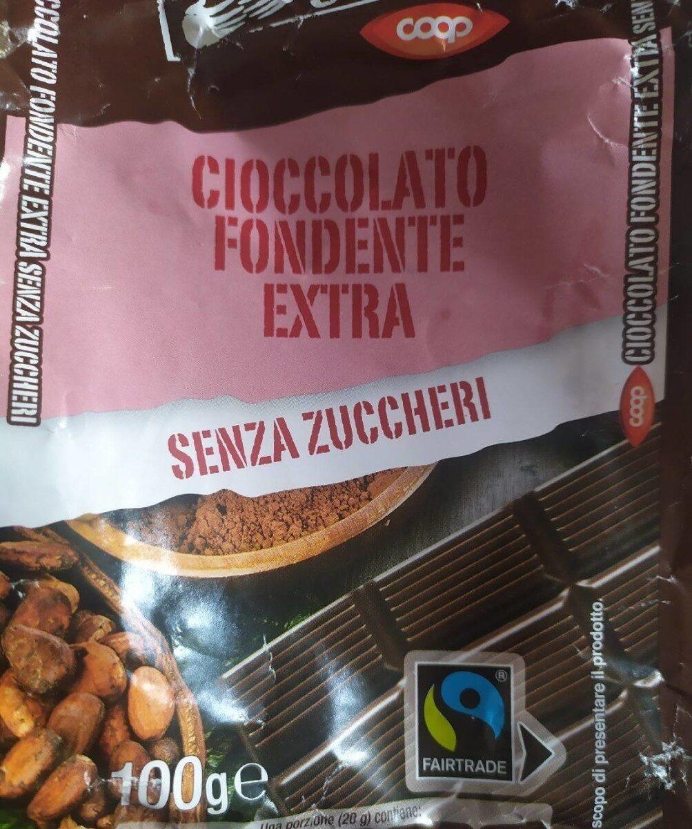 Cioccolato fondente Extra senza zuccheri - Prodotto - fr