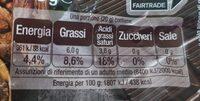 Cioccolato fondente Extra senza zuccheri - Informazioni nutrizionali - fr