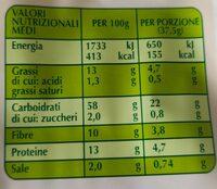 Crackers integrali biologici - Nutrition facts - it