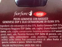 Pesto Genovese fiorfiore - Ingredients - it