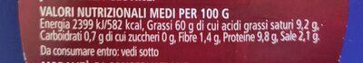 Pesto Genovese fiorfiore - Nutrition facts - it