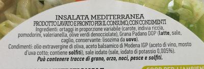 Insalata mista pronta da condire MEDITERRANEA - Ingredienti