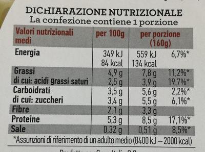 Insalata mista pronta da condire MEDITERRANEA - Informazioni nutrizionali