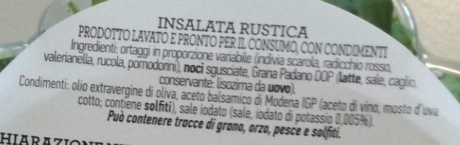 Insalata mista pronta da condire rustica - Ingrédients - it