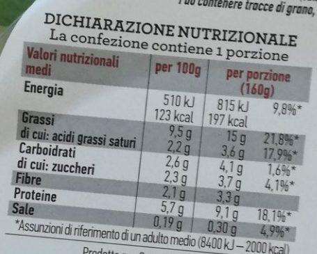Insalata mista pronta da condire rustica - Informations nutritionnelles - it