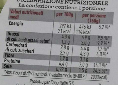 Insalata mista pronta da condire TONNO E OLIVE - Informations nutritionnelles - it