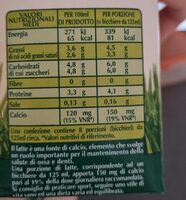 Latte biologico intero - Valori nutrizionali - it