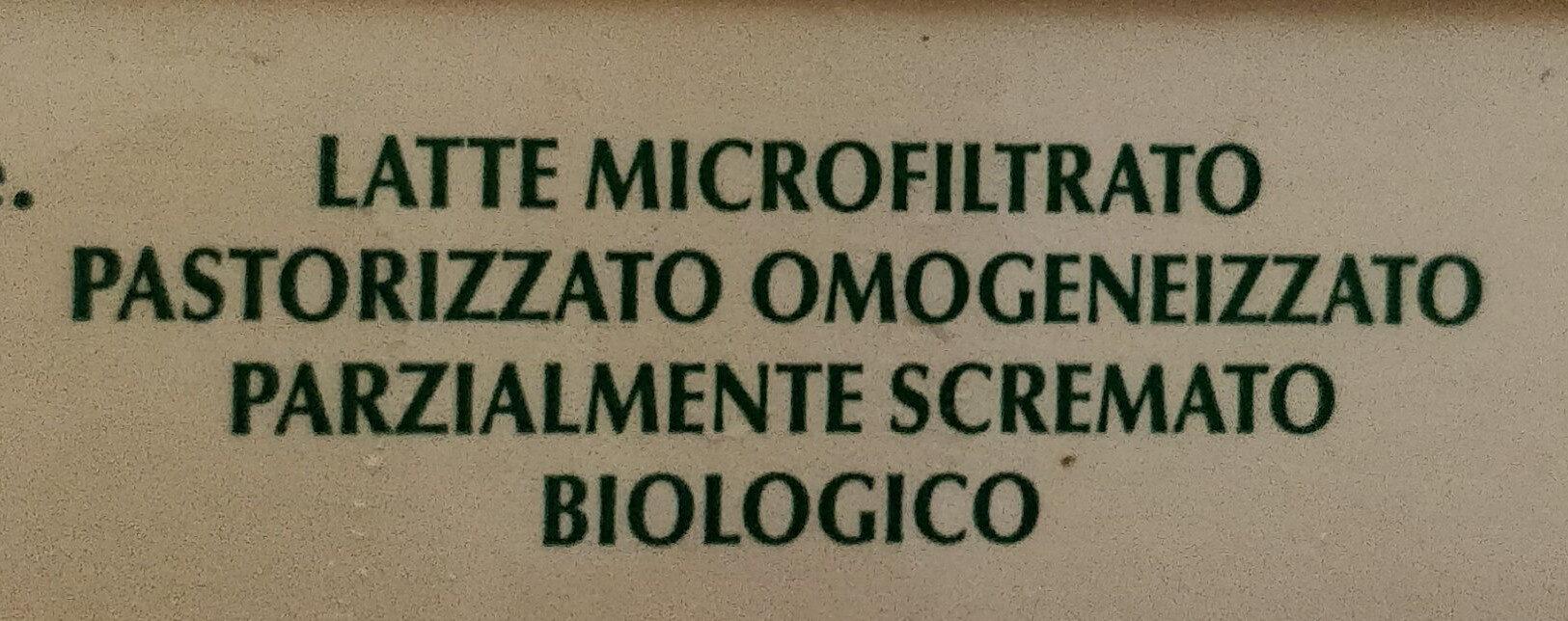 latte microfiltrato biologico parzialmente scremato - Ingredients - it