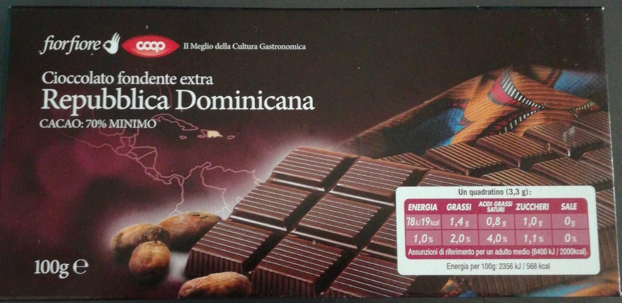 Cioccolato fondente extra Republica Dominicana - Product - it