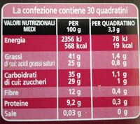 Cioccolato fondente extra Republica Dominicana - Nutrition facts - it