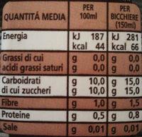 Jus d'ananas Solidal - Informazioni nutrizionali - it