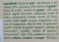 Nuggets vegetali - Ingredients - it