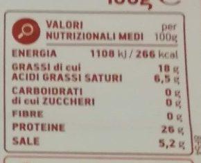 Prosciutto crudo Stagionato - Informations nutritionnelles - it