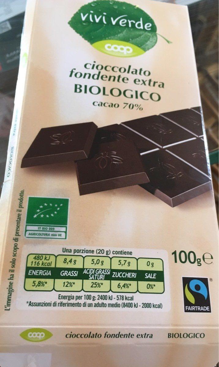 Cioccolato fondente extra biologico - Product
