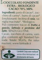 Cioccolato fondente extra biologico - Ingredients