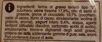 plumcake con gocce di cioccolato Coop - Ingredienti - it