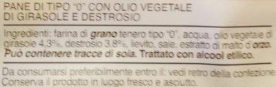 Pancarré 6+6 fette - Ingredients - it