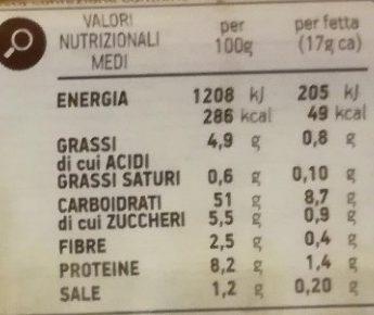 Pancarré 6+6 fette - Nutrition facts - it