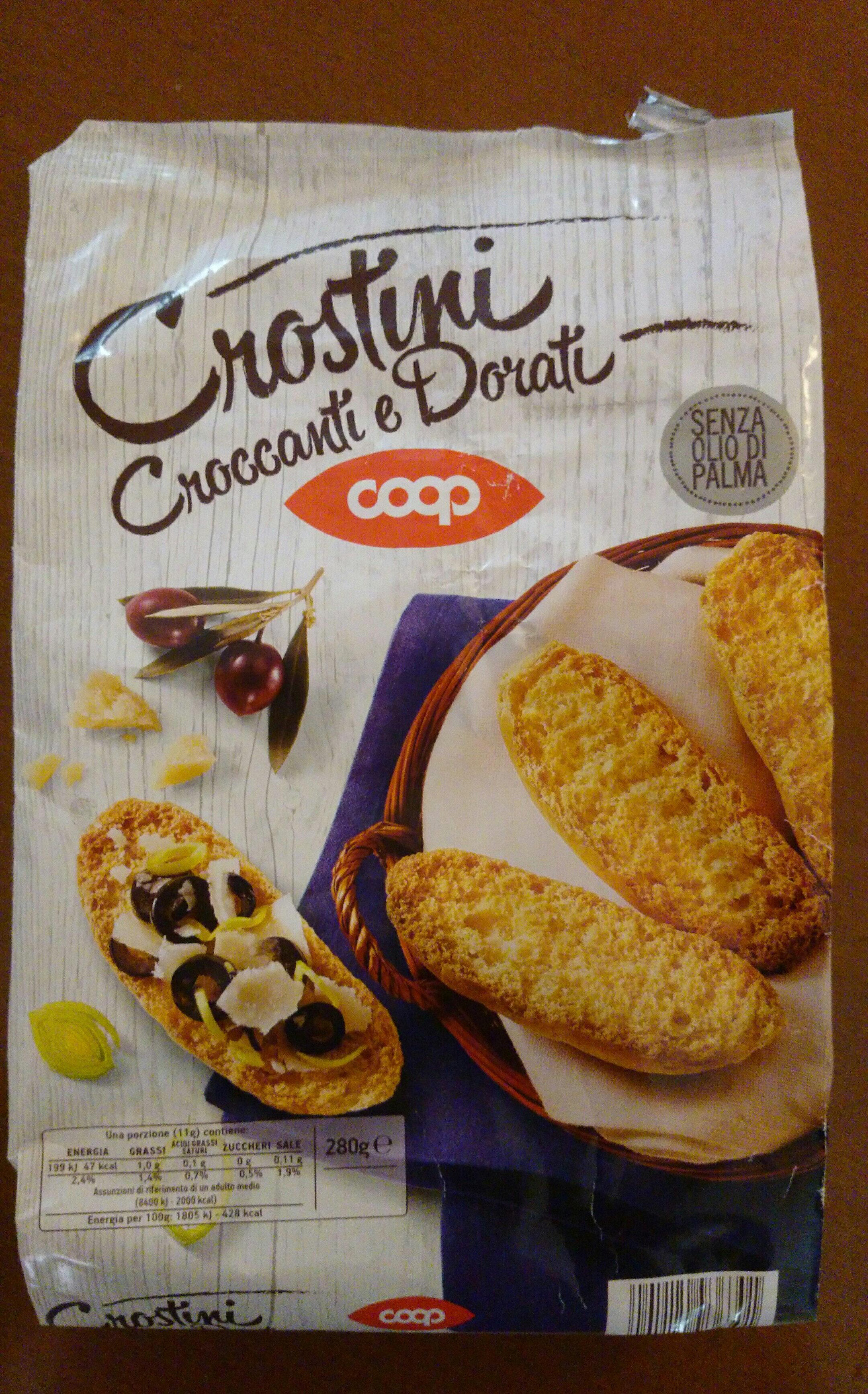 crostini croccanti e dorati - Product