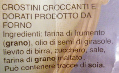 crostini croccanti e dorati - Ingrediënten