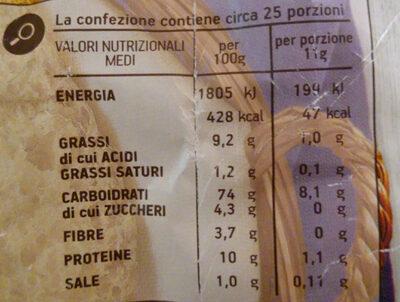 crostini croccanti e dorati - Voedingswaarden
