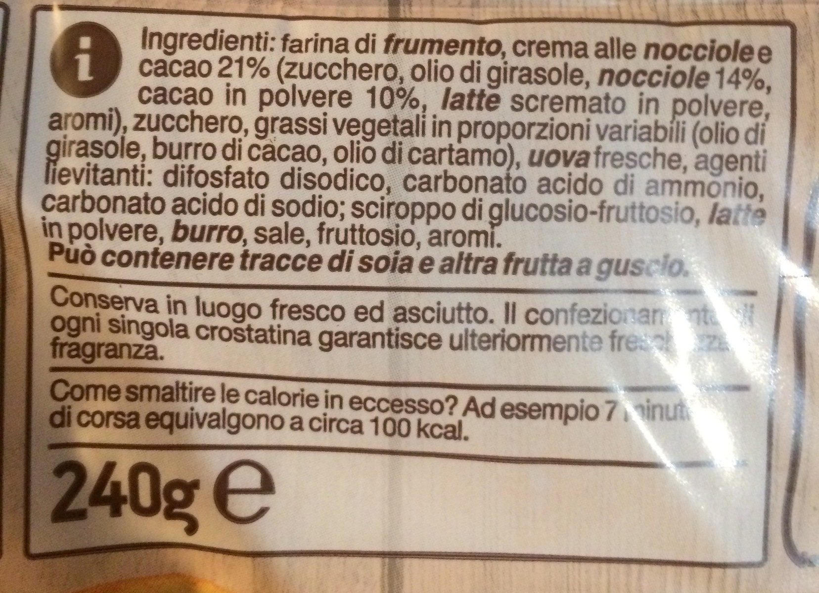Crostatina con crema al cacao - Ingredients - fr