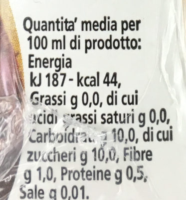 Ananas 100% - Nutrition facts