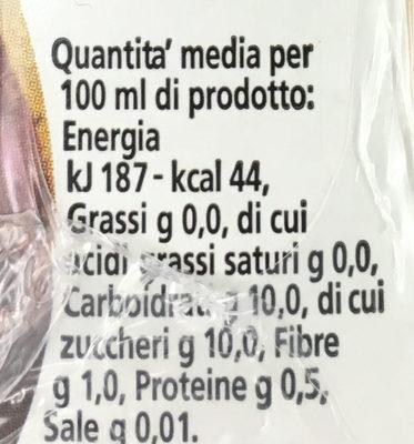 Ananas 100% - Información nutricional