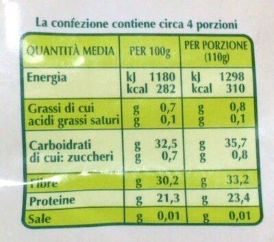 Zuppa legumi e cereali Bio - Voedingswaarden - fr